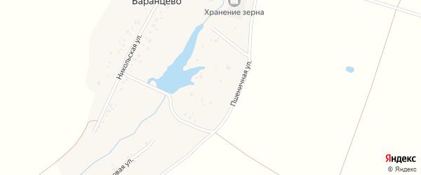 Пшеничная улица на карте деревни Баранцево с номерами домов