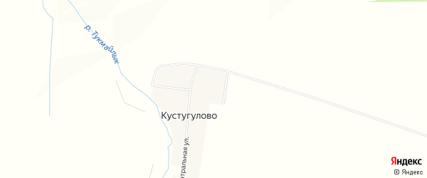 Карта деревни Кустугулово в Башкортостане с улицами и номерами домов