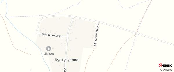 Молодежная улица на карте деревни Кустугулово с номерами домов