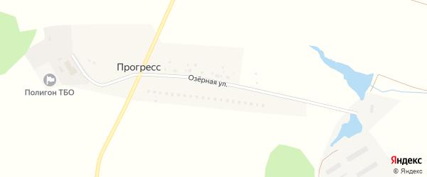 Озёрная улица на карте хутора Прогресса с номерами домов