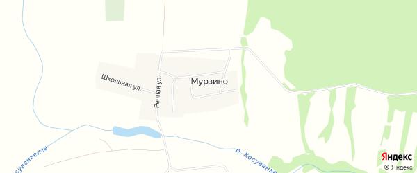Карта деревни Мурзино в Башкортостане с улицами и номерами домов