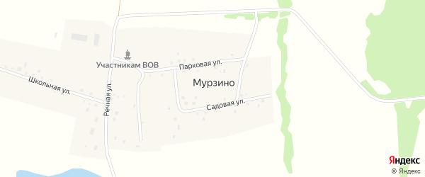 Полевая улица на карте деревни Мурзино с номерами домов