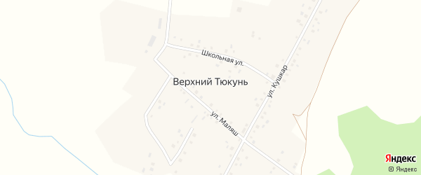 Улица Салавата Юлаева на карте деревни Верхнего Тюкуня с номерами домов