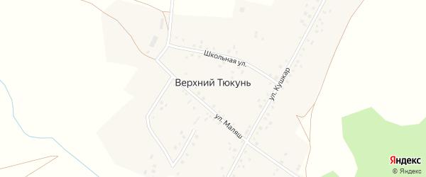 Улица Кушкар на карте деревни Верхнего Тюкуня с номерами домов