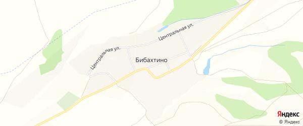 Карта деревни Бибахтино в Башкортостане с улицами и номерами домов