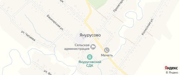 Школьная улица на карте села Янурусово с номерами домов