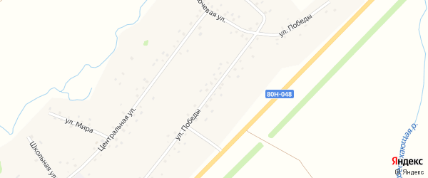 Улица Победы на карте села Кигазы с номерами домов