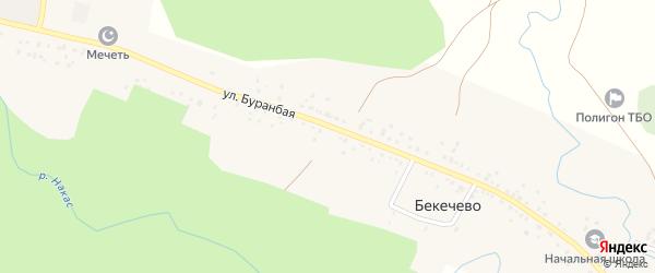 Буранбая улица на карте деревни Бекечево с номерами домов