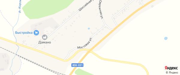 Мостовая улица на карте деревни Сахаево с номерами домов