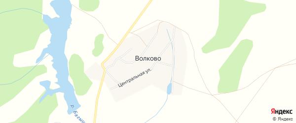 Карта села Волково в Башкортостане с улицами и номерами домов