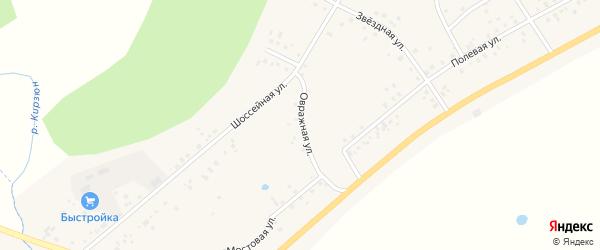 Овражная улица на карте деревни Сахаево с номерами домов