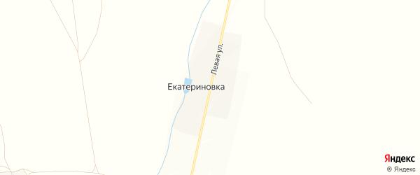 Карта деревни Екатериновки в Башкортостане с улицами и номерами домов
