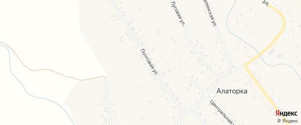 Почтовая улица на карте села Алаторка с номерами домов