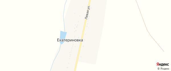 Левая улица на карте деревни Екатериновки с номерами домов