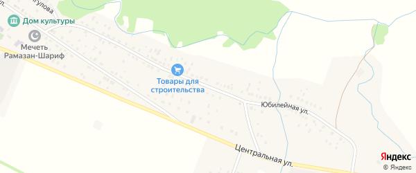 Юбилейная улица на карте села Новые Чебенки с номерами домов