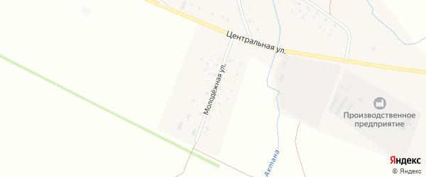 Молодежная улица на карте села Новые Чебенки с номерами домов