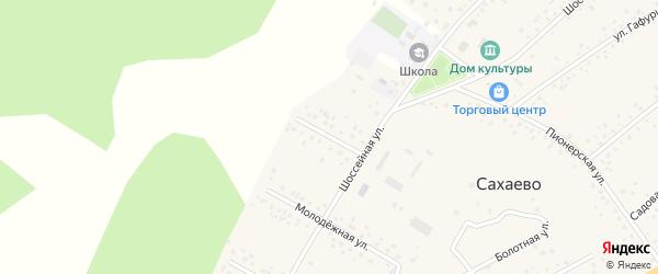 Гаражная улица на карте деревни Сахаево с номерами домов