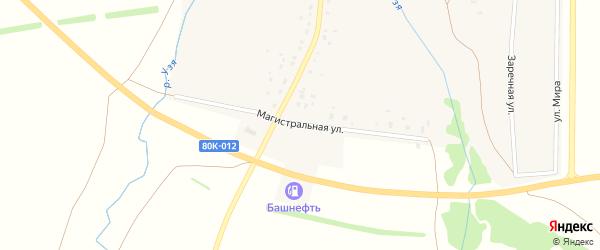 Магистральная улица на карте деревни Воскресенского с номерами домов