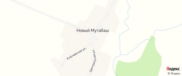 Ключевая улица на карте деревни Нового Мутабаша с номерами домов