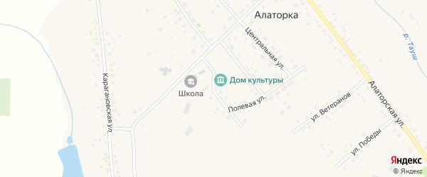Зеленая улица на карте села Алаторка с номерами домов