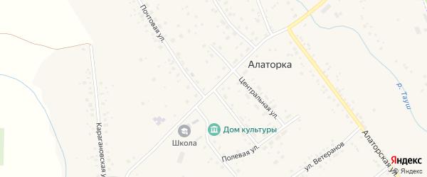 Интернациональная улица на карте села Алаторка с номерами домов