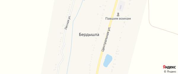 Центральная улица на карте деревни Бердышлы с номерами домов