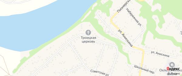 Первомайская улица на карте села Охлебинино с номерами домов