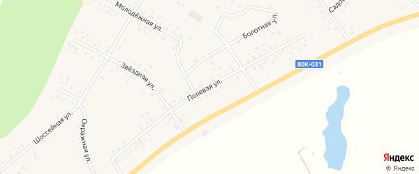 Полевая улица на карте деревни Сахаево с номерами домов