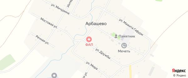 Улица Дружбы на карте села Арбашево с номерами домов
