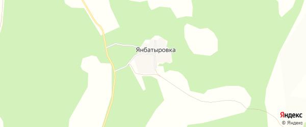 Карта деревни Янбатыровки в Башкортостане с улицами и номерами домов