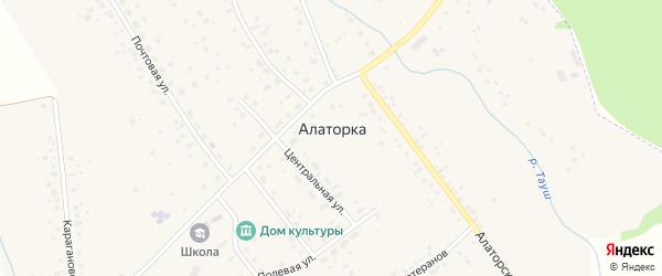 Улица Ветеранов на карте села Алаторка с номерами домов