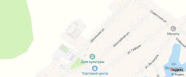 Школьная улица на карте деревни Сахаево с номерами домов