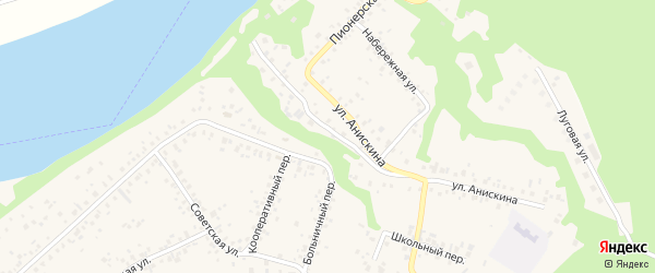 Больничный переулок на карте села Охлебинино с номерами домов