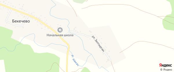 Улица Зилтырган на карте деревни Бекечево с номерами домов