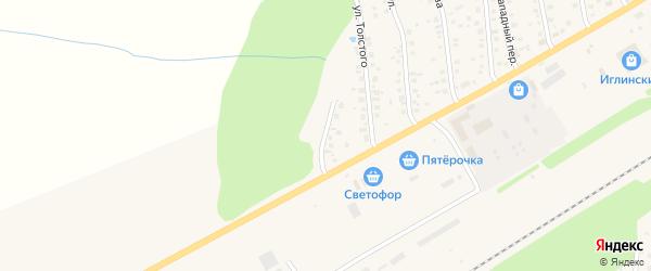 Улица Нефтянников на карте села Иглино с номерами домов