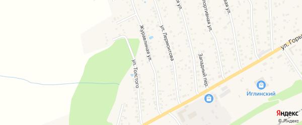 Журавлиная улица на карте села Иглино с номерами домов