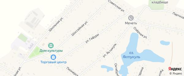 Улица Гафури на карте деревни Сахаево с номерами домов