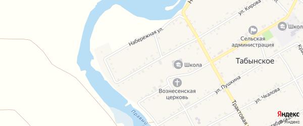 Улица Кирова на карте Табынского села с номерами домов