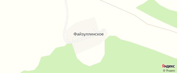 Уфимская улица на карте деревни Файзуллинского с номерами домов