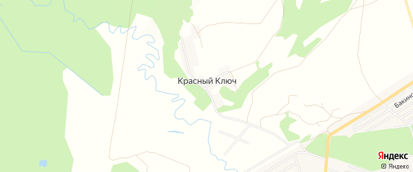 СНТ Красный Ключ на карте Иглинского района с номерами домов
