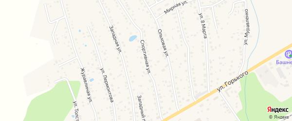 Спортивная улица на карте села Иглино с номерами домов