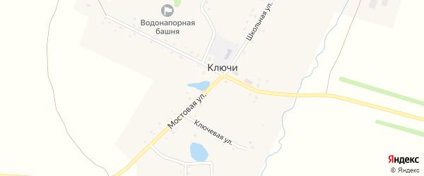 Речная улица на карте села Ключи с номерами домов
