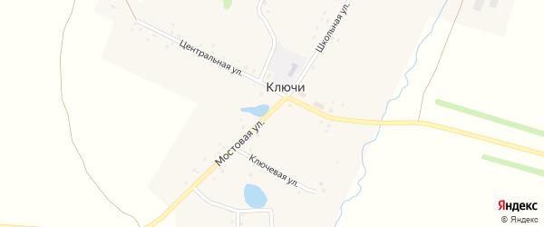 Ключевая улица на карте села Ключи с номерами домов