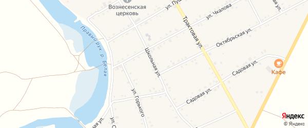 Школьная улица на карте Табынского села с номерами домов