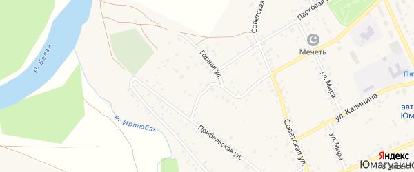Горная улица на карте села Юмагузино с номерами домов