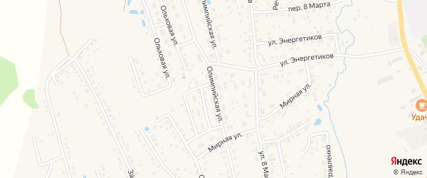 Олимпийская улица на карте села Иглино с номерами домов