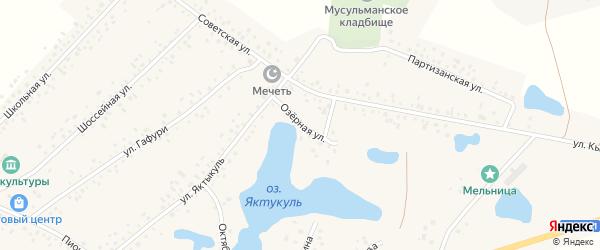 Озерная улица на карте деревни Сахаево с номерами домов