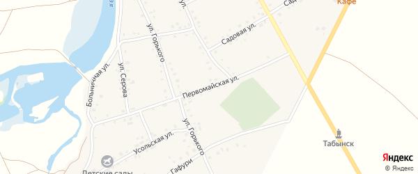 Первомайская улица на карте Табынского села с номерами домов