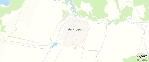 Карта деревни Амитово в Башкортостане с улицами и номерами домов