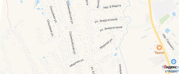 Улица 8 Марта на карте села Иглино с номерами домов